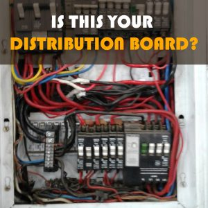 BAD WIRING IN DISTRIBUTION BOARD